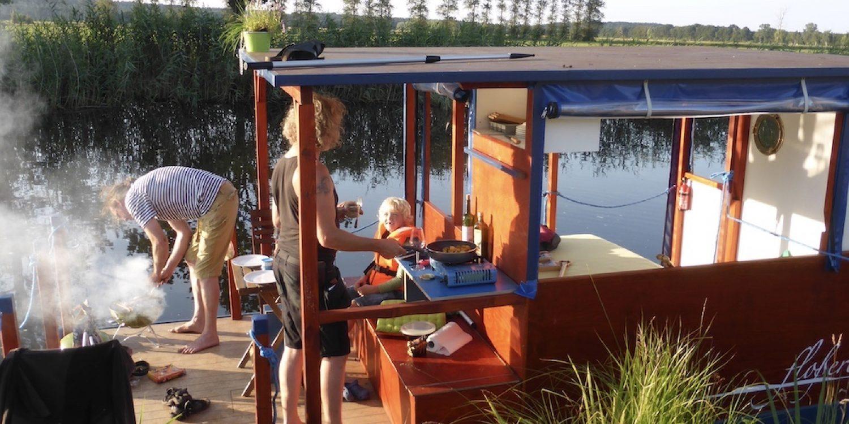 Kochen auf dem Floß