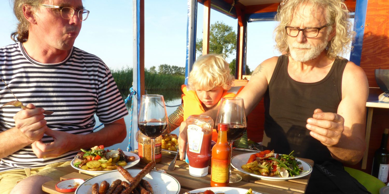 Kochen auf den Floß