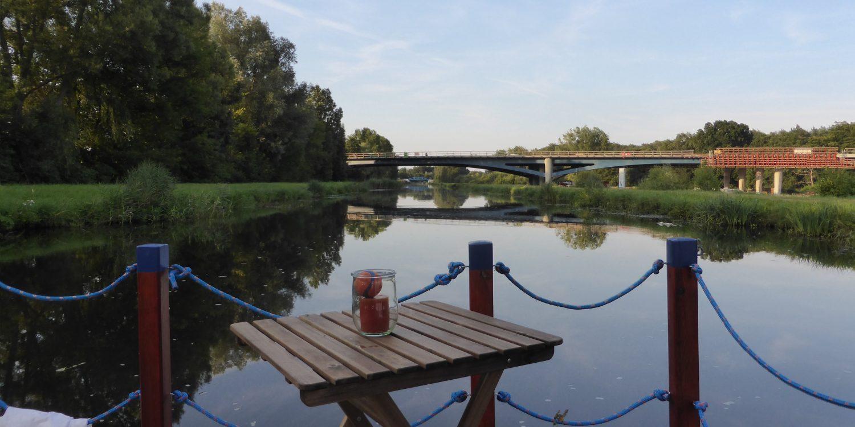 Floßfahrt Fresenbrücke