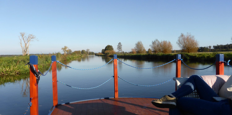 Kanalfahrt auf der Elde